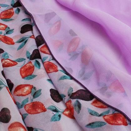 Deyla Instant Shawl Lavender with Flower Print