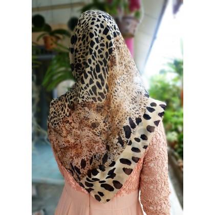 Diane Wideshawl Leopard Print Brown Multi