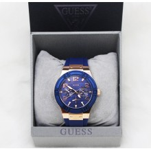 Guess U0571L1 Iconic Sporty Multifunction Women Blue/Rose Gold Watch