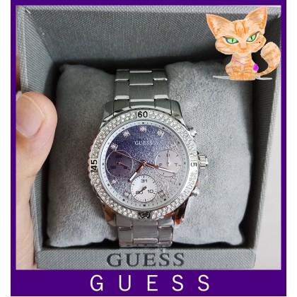Guess U0774L6 Confetti Crystal Silver Watch