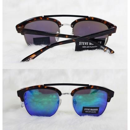 Steve Madden Clubmaster Tortoise Unisex Black Sunglasses
