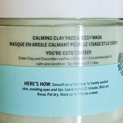 Victoria's Secret Face Clay Mask Chill Out With Cucumber