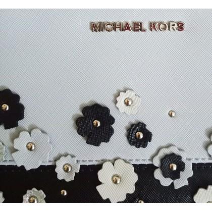 Michael Kors Jet Set Large Wristlet Floral Blue Multi
