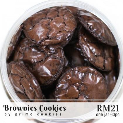 Primo Cookies Homemade Kerepek Brownies Dark Chocolate