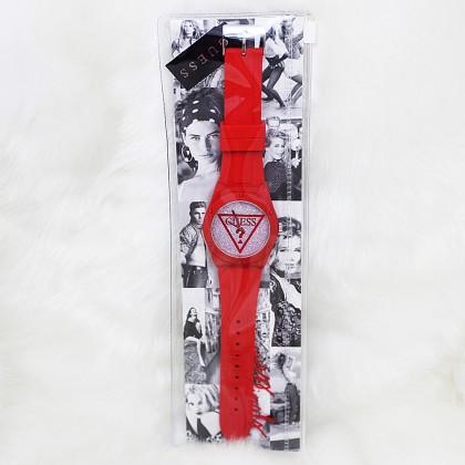 Guess U0979L24 Iconic Glitter Sport Silicone Watch Red