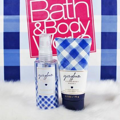 Bath & Body Works Gingham Travel Mist Body Cream 2pc Set