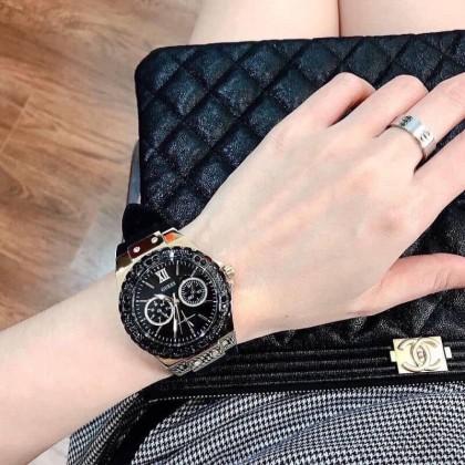 Guess U1053L7 Multifunction Black Gold Women Watch