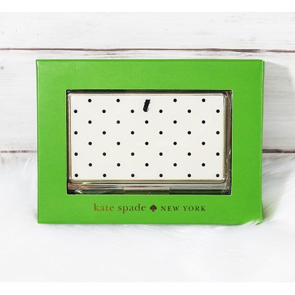 Kate Spade Down To Business Card Holder Polkadot T