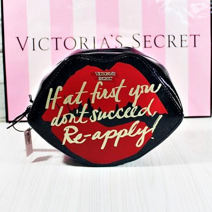 Victoria's Secret Lipstick Muse Cosmetic Case Black/Red