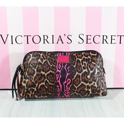 Victoria's Secret Wild Leopard Travel Makeup Cosmetic Case