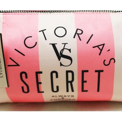 Victoria's Secret Pink Stripe Large Cosmetic Case
