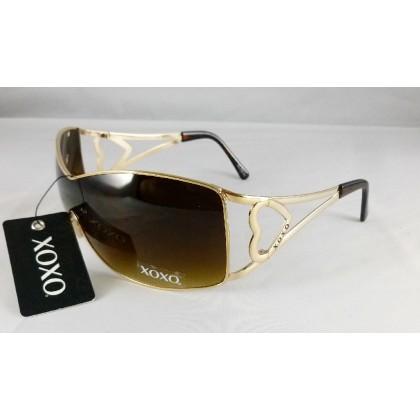 XOXO Love Story Brown Wrap Sunglasses
