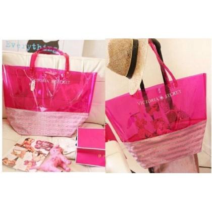 Victoria's Secret Beach Jelly Pink Tote