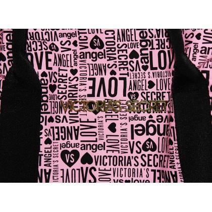 Victoria's Secret Getaway Monogram Weekender Tote Pink/Black